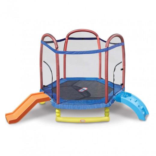 ليتل تايكس – نطاطية للأطفال 7 قدم مع زحليقة وحاجز تسلق - يتم التوصيل بواسطة سفاري هاوس خلال 2 أيام عمل