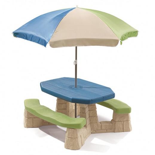 ستيب2 – طاولة وقت اللعب مع المظلة - يتم التوصيل بواسطة Shahaleel