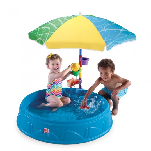 ستيب2 – مسبح للأطفال مع شمسية  - يتم التوصيل بواسطة Shahaleel