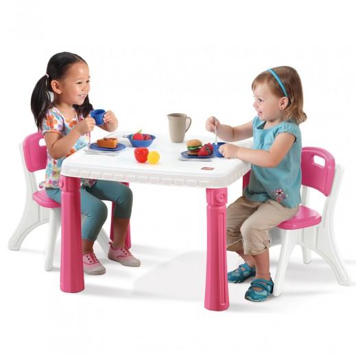 ستيب2 – طاولة المطبخ مع مقعدين  - يتم التوصيل بواسطة شهاليل خلال 2 أيام عمل