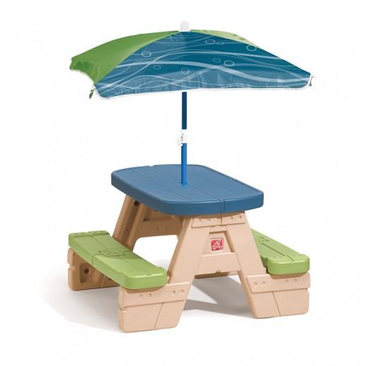 ستيب2 – طاولة وقت النزهة مع المظلة  - يتم التوصيل بواسطة شهاليل خلال 2 أيام عمل
