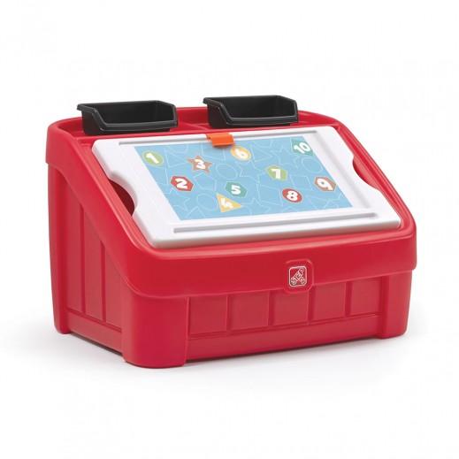 ستيب2 – صندوق الالعاب والتلوين - أحمر  - يتم التوصيل بواسطة شهاليل خلال 2 أيام عمل