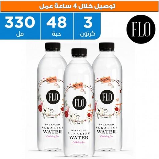 فلو - مياه شرب قلوية متوزانة 48 × 330 مل بتصميم Celebrating Love - يتم التوصيل بواسطة فوديكو خلال 4 أيام عمل