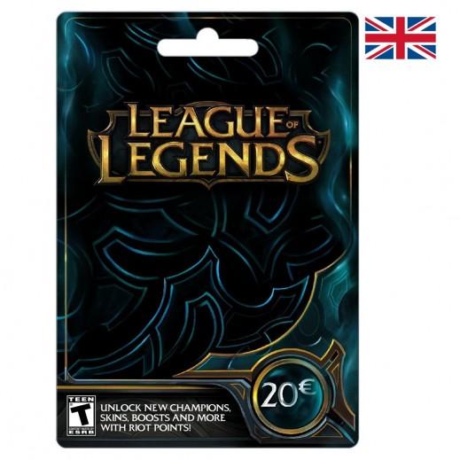 بطاقة نقاط Riot لعبة League of Legends للحسابات الأوروبية بقيمة 20 يورو - (استلام عبر الإيميل)