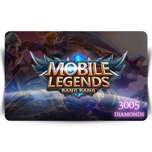بطاقة فورية للعبة Mobile Legends بقيمة 3005 ماسة (استلام عبر الإيميل)