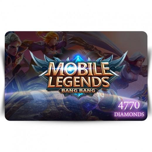 بطاقة فورية للعبة Mobile Legends بقيمة 4770 ماسة (استلام عبر الإيميل)