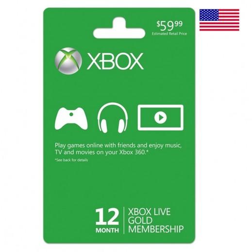 عضوية Xbox لمدة 12 شهربقيمة 59 دولار للحسابات الأمريكية (إستلام عبر الإيميل)