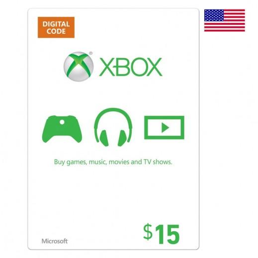 بطاقة XBox للحسابات الأمريكية بقيمة 15 دولار - (إستلام عبر الإيميل)