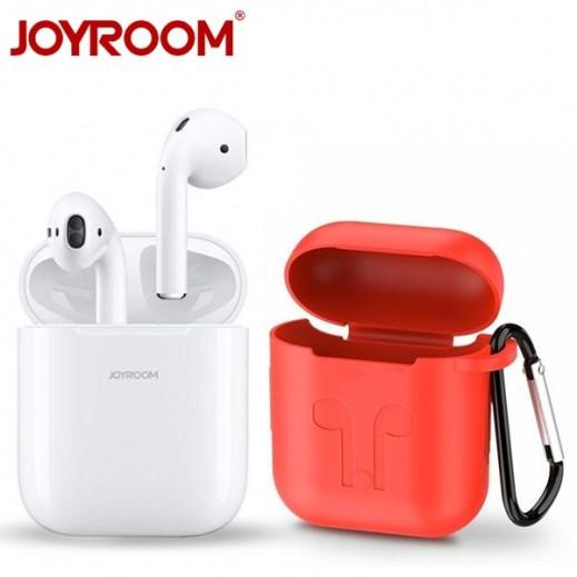 Joyroom – سماعة أذن بلوتوث مع علبة الشحن – ابيض