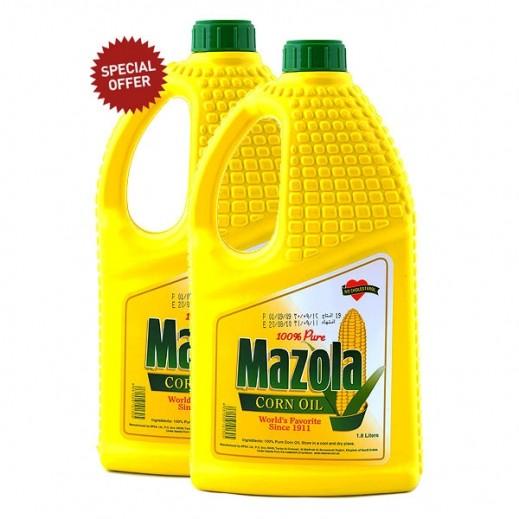 مازولا – زيت الذرة للطبخ 2 × 1.8 لتر