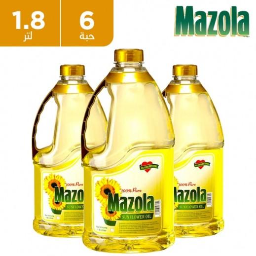 مازولا – زيت عباد الشمس للطبخ 6 × 1.8 لتر