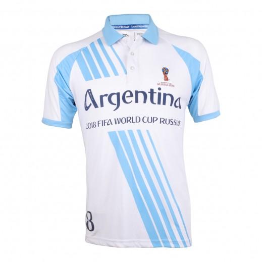 تى شيرت منتخب الأرجنتين بولو كاس العالم روسيا 2018 - (رجالي ) مقاس صغير - XXL