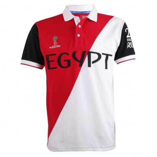 تى شيرت منتخب مصر بولو كاس العالم روسيا 2018 - (رجالي) مقاس صغير - XXL