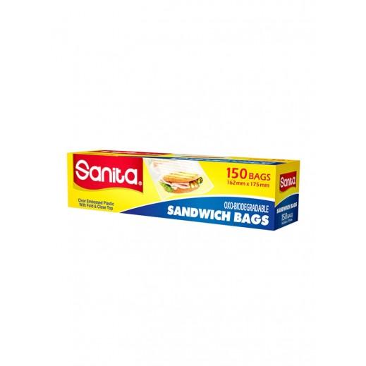سانيتا - أكياس حفظ الساندويتش 162 × 170 سم – عبوة 150 حبة