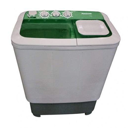 باناسونيك – غسالة حوضين 7 كجم – أبيض و أخضر - يتم التوصيل بواسطة  AL-YOUSIFI CO.
