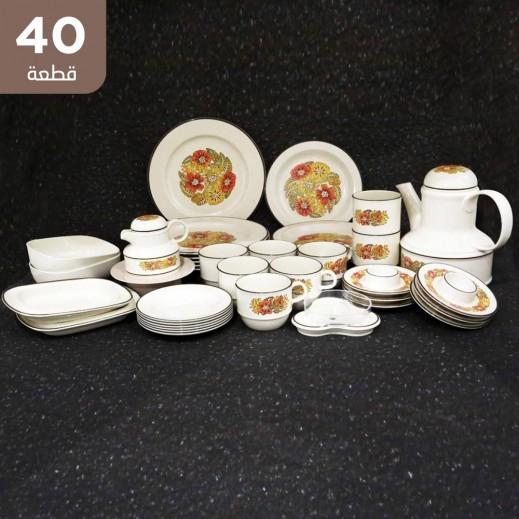 ريفوليت - طقم شاى وقهوة ميلامين - 40 قطعة