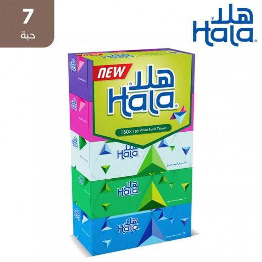 هلا - مناديل ورقية 150 منديل × 2 طبقة (7 حبة )