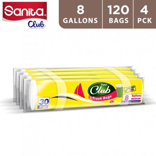 سانيتا كلوب أكياس نفايات 8 جالون (4 × 30 حبة)
