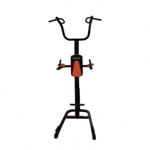"""باور فيت – محطة تمارين اللياقة البدنية """"باور تاور"""" – أسود وبرتقالي - يتم التوصيل بواسطة النصر الرياضي خلال 3 أيام عمل"""