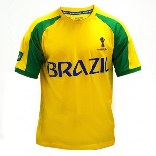 تى شيرت منتخب البرازيل كاس العالم روسيا 2018 - (رجالي) مقاس صغير - XXL