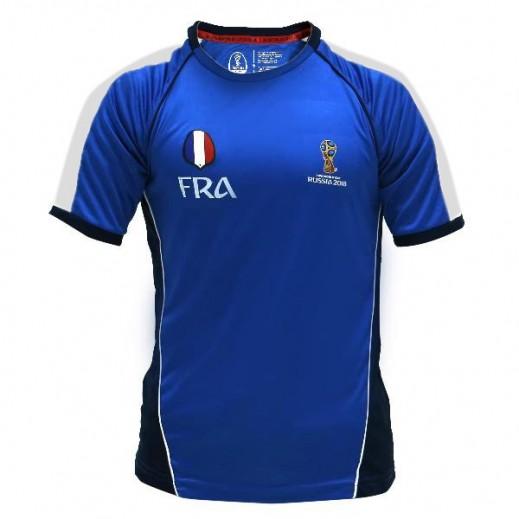 تى شيرت منتخب فرنسا كاس العالم روسيا 2018 - (رجالي) مقاس صغير - XXL