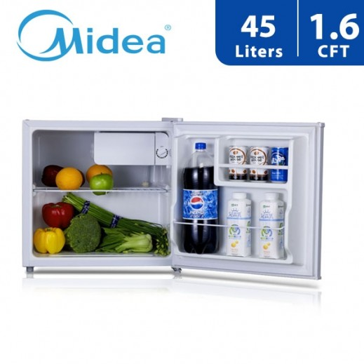 ميديا – ثلاجة باب واحد سعة 45 لتر/ 1.6 قدم  – أبيض - يتم التوصيل بواسطة  AL-YOUSIFI CO.