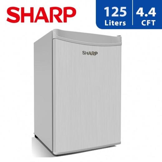 شارب - ثلاجة باب واحد سعة 125 لتر/ 4.4 قدم - فضى - يتم التوصيل بواسطة  AL-YOUSIFI  في خلال 3 أيام