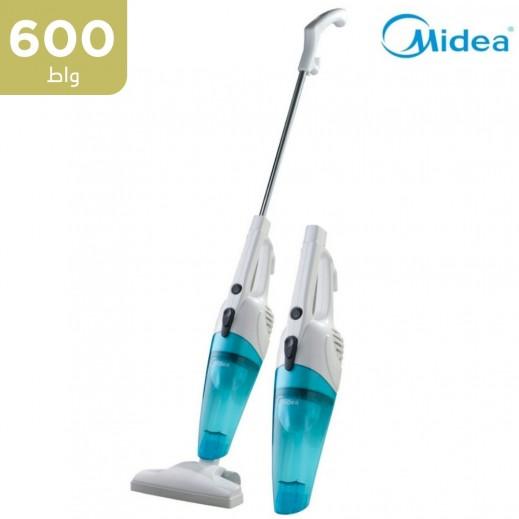 ميديا - 600 واط مكنسة كهربائية 2 في 1 - أبيض