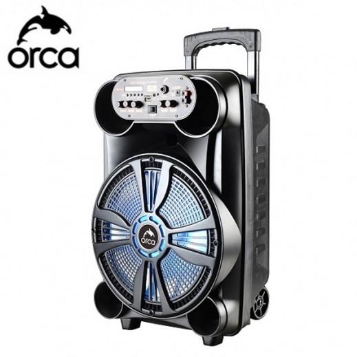اوركا - مكبر الصوت المحمول 40 واط  - اسود - يتم التوصيل بواسطة  AL-YOUSIFI  بعد 7 ايام عمل