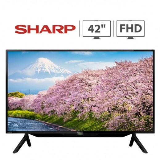 شارب – تلفزيون ذكى  شاشة 42 بوصة FHD LED - اسود - يتم التوصيل بواسطة  AL-YOUSIFI  بعد 3 ايام عمل