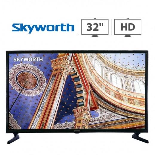 سكاي وورث – تلفزيون  32 بوصة  HD LED – اسود - يتم التوصيل بواسطة  AL-YOUSIFI  بعد 3 ايام عمل