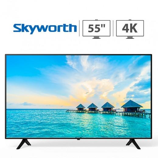 سكاى وورث - تليفزيون 55 بوصة UHD-4K - اسود - يتم التوصيل بواسطة  AL-YOUSIFI  في خلال 3 أيام بعد العيد