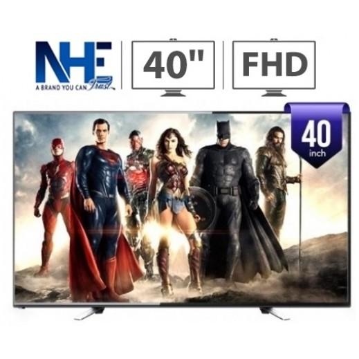 إن إتش إي – تلفزيون FHD LED فائق الوضوح 40 بوصة – أسود - يتم التوصيل بواسطة Nasser Alhusainan Company