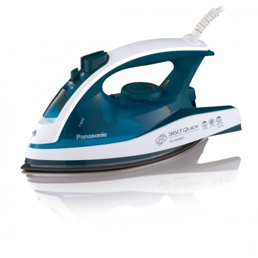 باناسونيك - كواية الملابس البخارية 2400 واط غير لاصقة – أزرق - يتم التوصيل بواسطة EASA HUSSAIN AL YOUSIFI & SONS COMPANY
