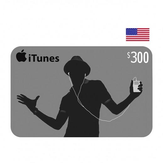 بطاقة أي تونز بقيمة 300 دولار للحسابات الأمريكية فقط –  إستلم فورا على بريدك الإلكتروني