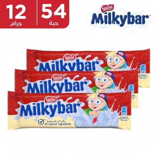 ميلكي بار - شيكولاتة بالحليب - كرتون 54 حبة في 12 جم
