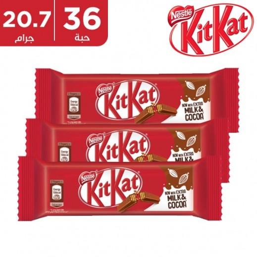 كيت كات - شوكولاتة 2 أصابع - كرتون 36 حبة في 20.7 جم