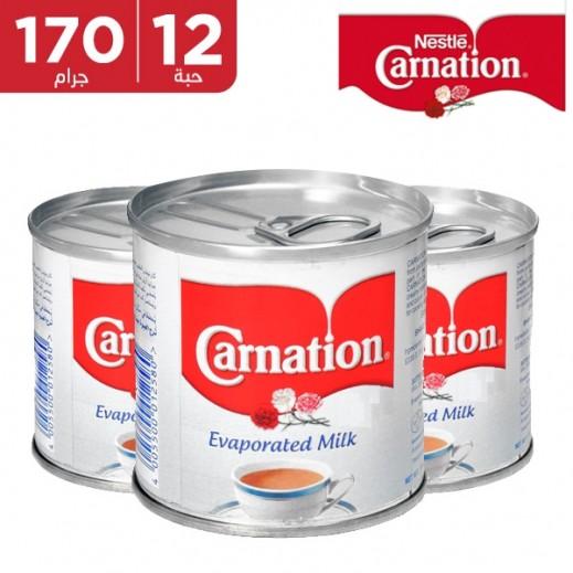 كارنيشن – حليب مبخر 12 × 170 جم (10% خصم)