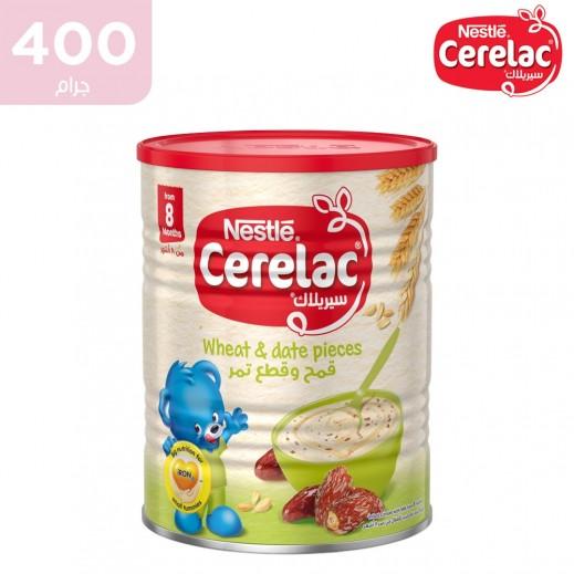 سيريلاك – طعام الأطفال بالقمح وقطع التمر (من عمر 8 أشهر) 400 جم