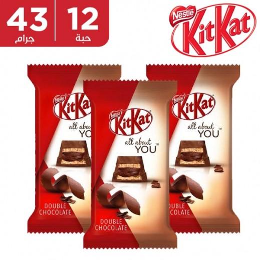 كيت كات - شوكولاته دابل 5 أصابع 12 × 43 جم