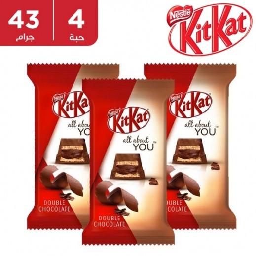 كيت كات - شوكولاته دابل 5 أصابع 4 × 43 جم