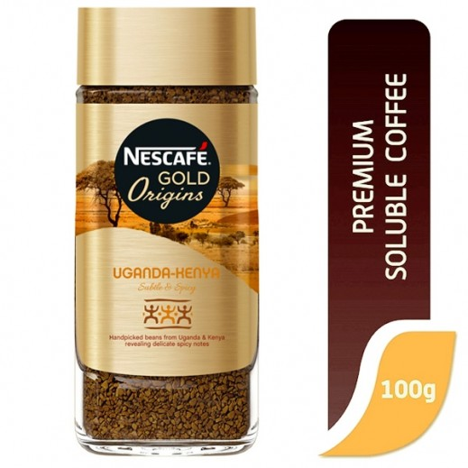 نسكافيه  - قهوة جولد اوريجنز اوغندة كينيا 100 جم