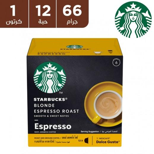 ستاربكس – قهوة بلوند روست اسبريسو فاتحة التحميص 12 غلاف
