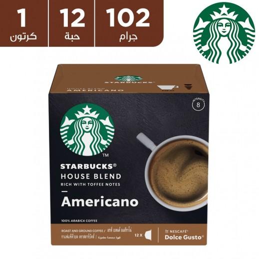 ستاربكس – قهوة هاوس بليند من نسكافيه دولشي جوستو متوسطة التحميص 12 غلاف
