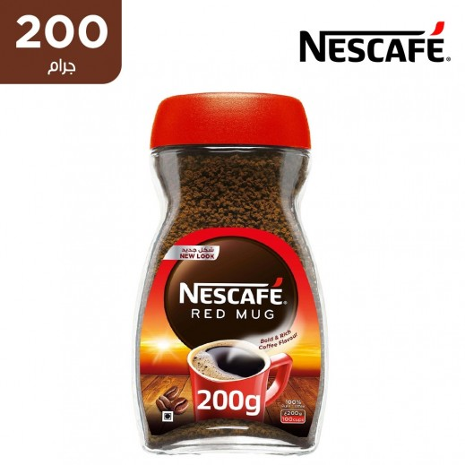 """نسكافيه – قهوة سريعة التحضير """" ريد مج """" 200 جم"""