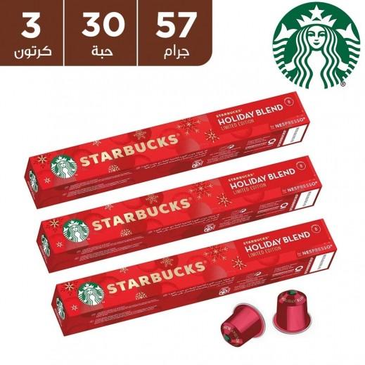 ستاربكس – كبسولات قهوة نسبرسو هوليداي بلند الإصدار المحدود 3 × 57 جم (30 كبسولة)