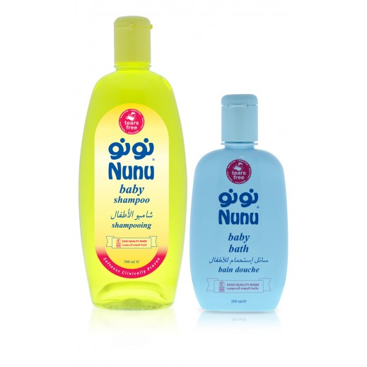 نونو – شامبو للأطفال 500 مل + سائل إستحمام 200 مل مجاناً