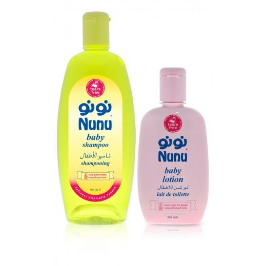 نونو – شامبو للأطفال 500 مل + لوشن 200 مل مجاناً