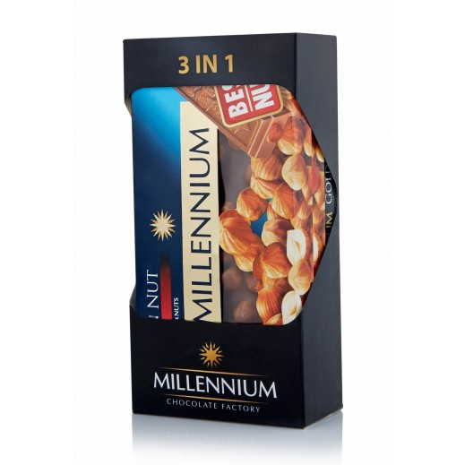 ميلينيوم - شكولاته ميلينيوم الذهبى بالمكسرات 3×100 جرام