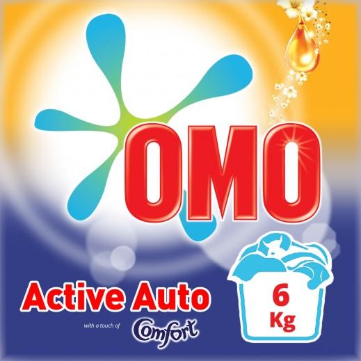 أومو - مسحوق غسيل أكتيف أوتو مع لمسة من كومفرت، 6 كجم